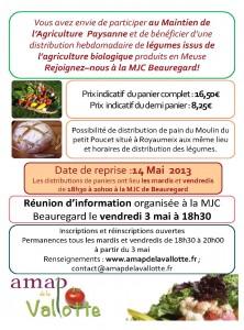 Reprise des distributions le 14 mai à 18h30 ; réunion d'information le 3 mai à 18h30